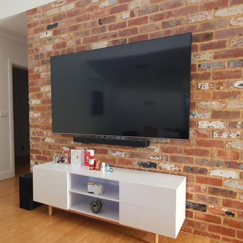 TV and Soundbar Wall Mount on Brick